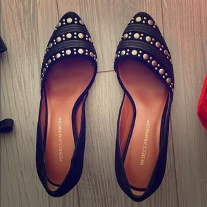 Rebecca minkoff black with stud heels size 8